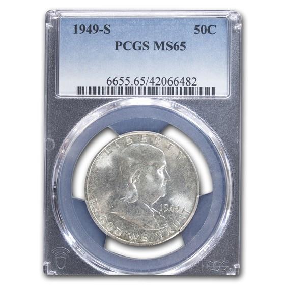 1949-S Franklin Half Dollar MS-65 PCGS