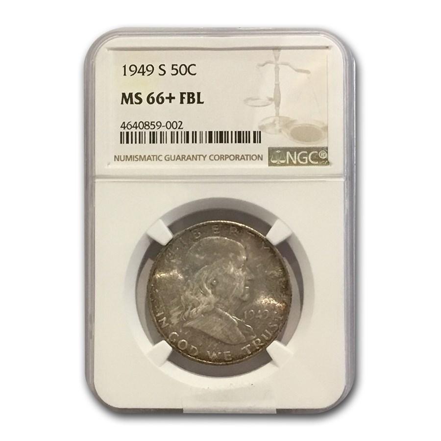 1949-S Franklin Half Dollar MS-66+ NGC (FBL)
