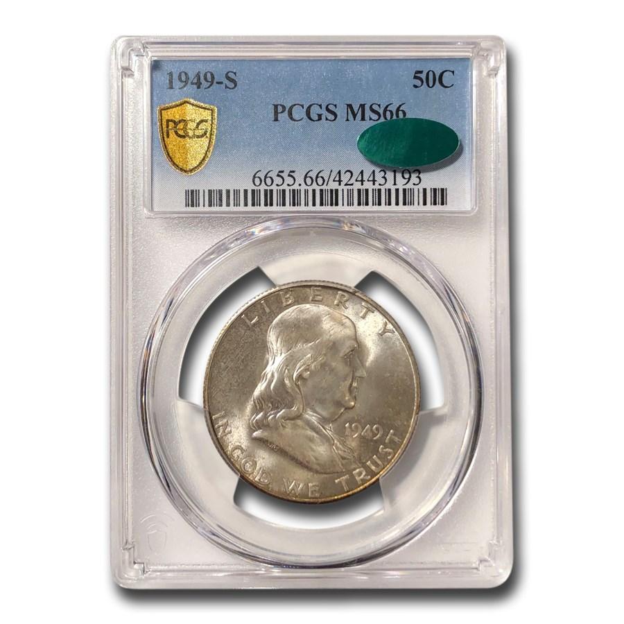 1949-S Franklin Half Dollar MS-66 PCGS CAC