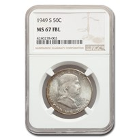 1949-S Franklin Half Dollar MS-67 NGC (FBL)