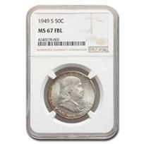 1949-S Franklin Half Dollar MS-67 NGC (FBL)