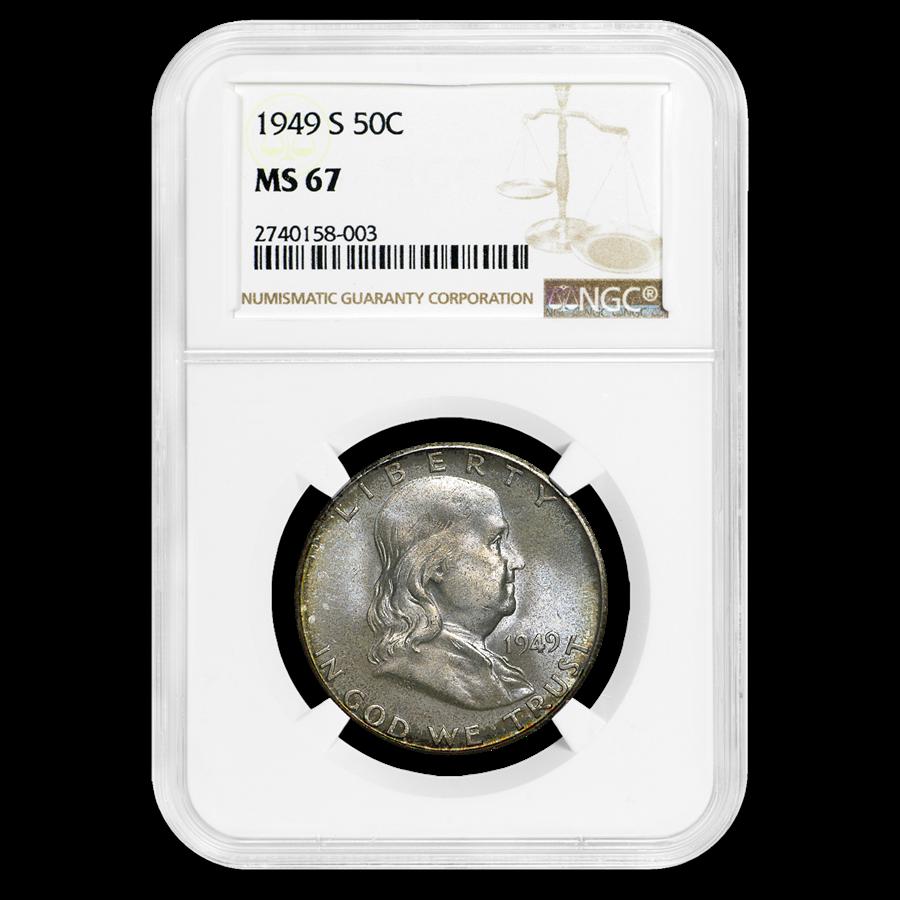 1949-S Franklin Half Dollar MS-67 NGC