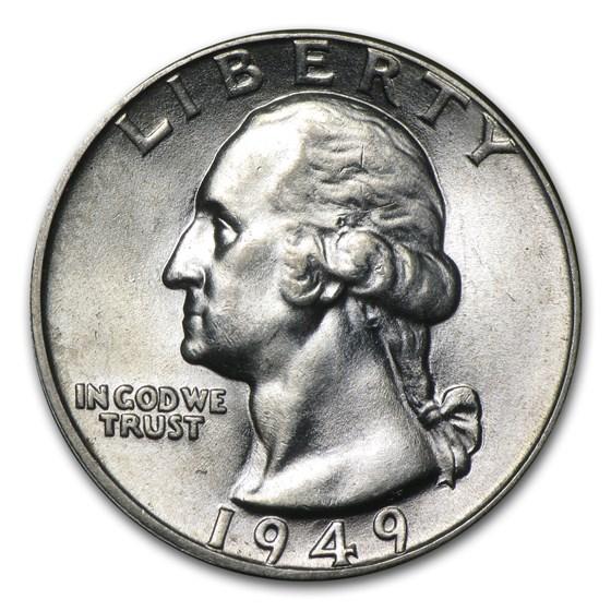 1949 Washington Quarter BU