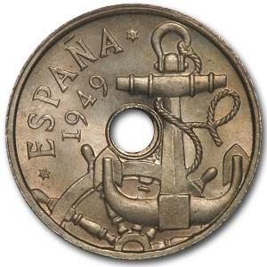 1949(51) Spain 50 Centimos BU
