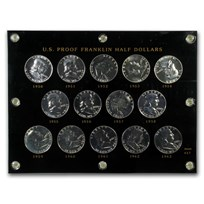 1950-63 Franklin Half Dollar Short Set Proof (Capital Plastic)