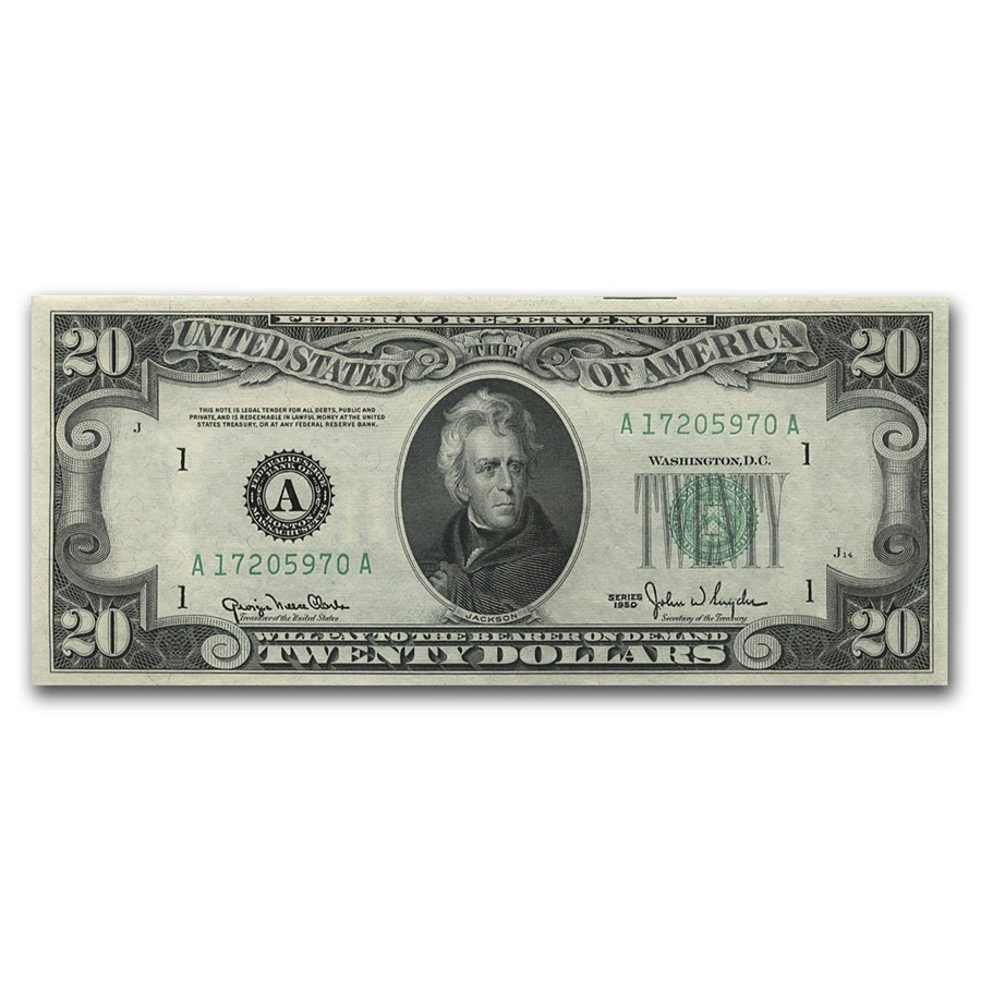 1950 (A-Boston) $20 Federal Reserve Note CU