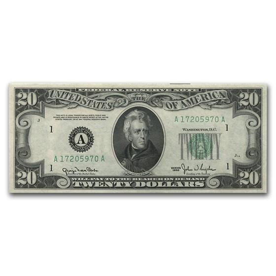 1950 (A-Boston) $20 FRN CU (Fr#2059-A)