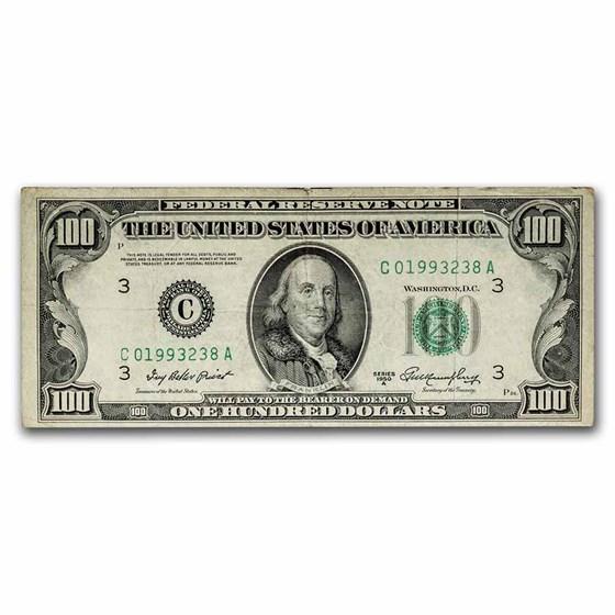 1950-A (C-Philadelphia) $100 FRN VF (Fr#2158-C)