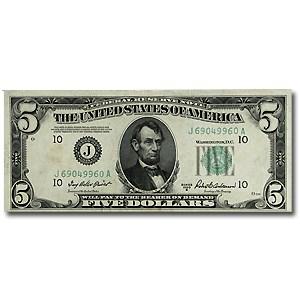 1950-B (J-Kansas City) $5.00 FRN CU Details