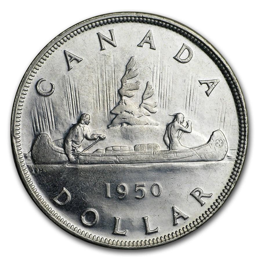 1950 Canada Silver Dollar George VI AU
