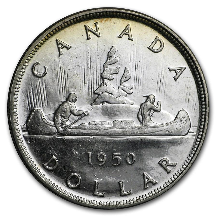 1950 Canada Silver Dollar George VI BU