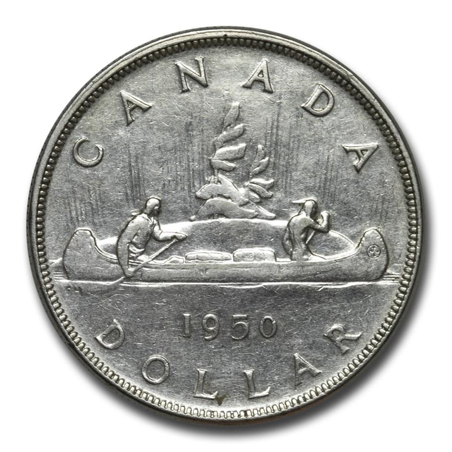 1950 Canada Silver Dollar George VI XF