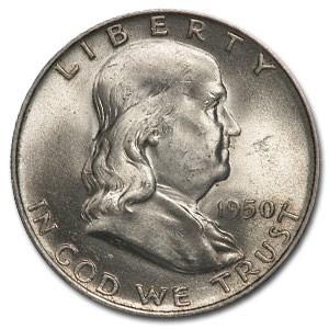 1950-D Franklin Half Dollar AU