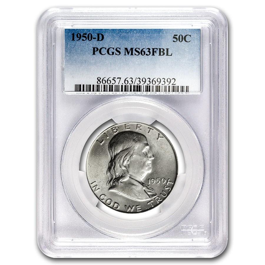 1950-D Franklin Half Dollar MS-63 PCGS (FBL)