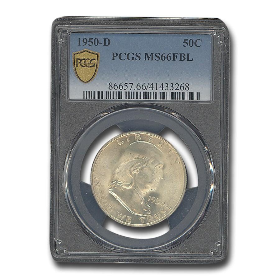 1950-D Franklin Half Dollar MS-66 PCGS (FBL)
