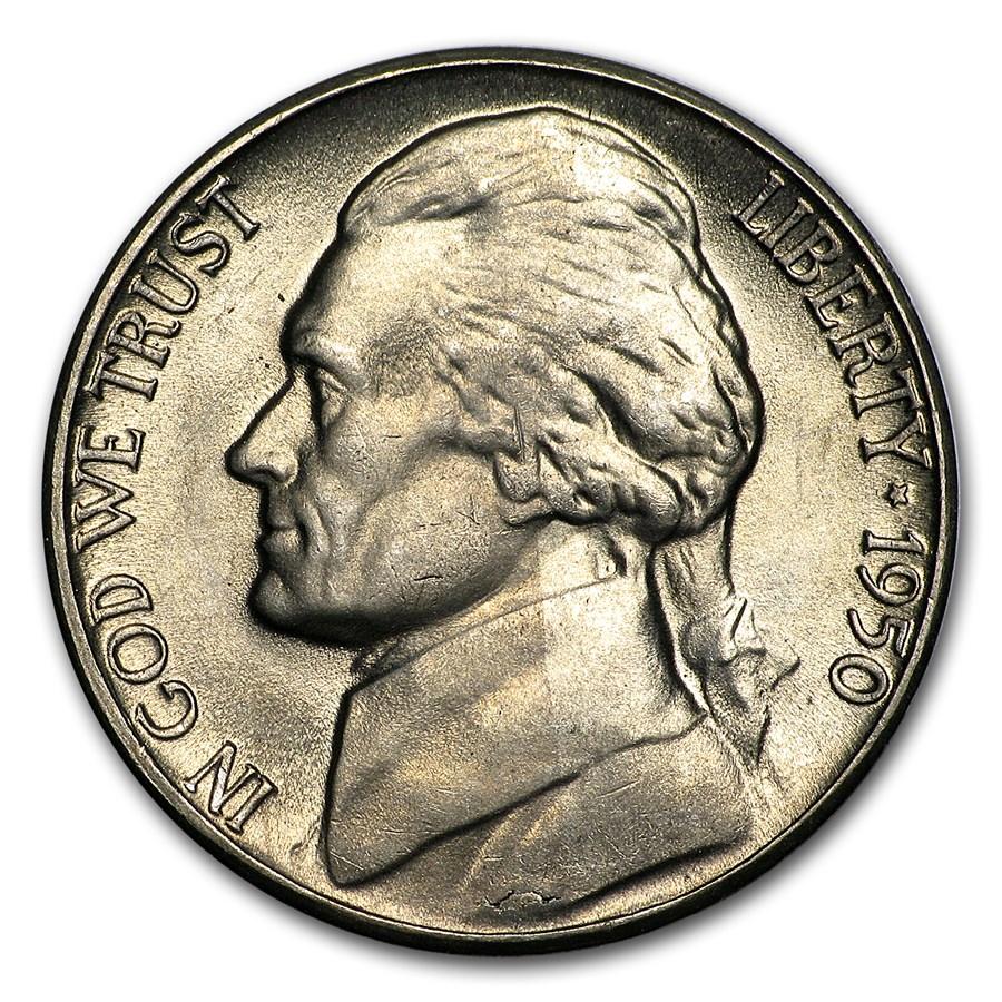 1950-D Jefferson Nickel BU