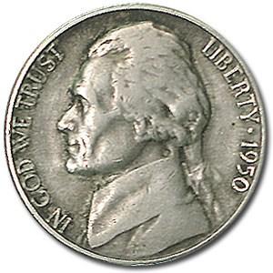 1950-D Jefferson Nickel Fine+