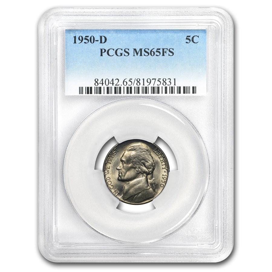 1950-D Jefferson Nickel MS-65 PCGS (Full Steps)