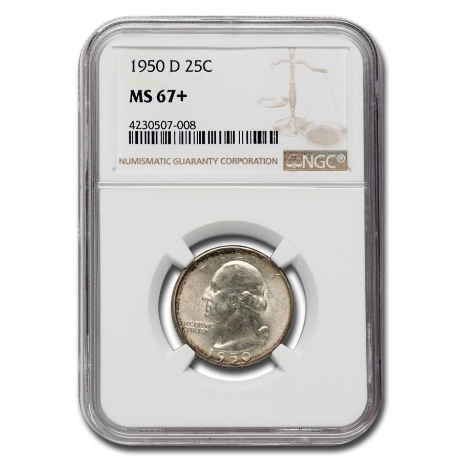 1950-D Washington Quarter MS-67+ NGC