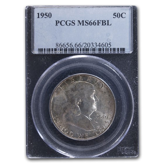 1950 Franklin Half Dollar MS-66 PCGS (FBL)