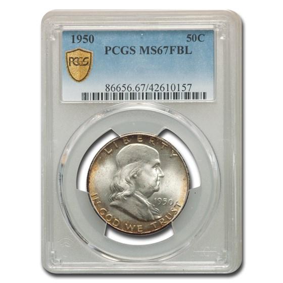 1950 Franklin Half Dollar MS-67 PCGS (FBL)