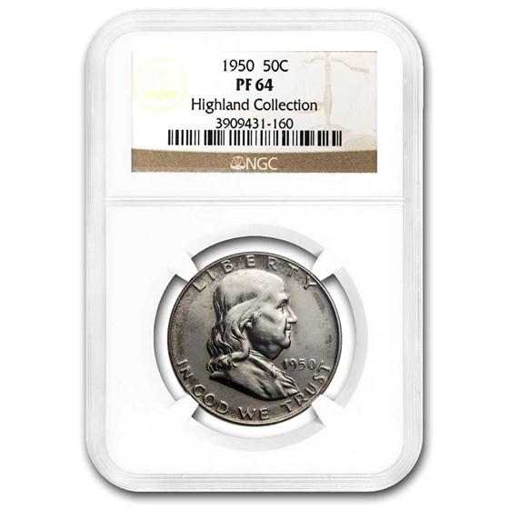 1950 Franklin Half Dollar PF-64 NGC