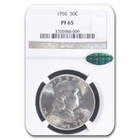 1950 Franklin Half Dollar PF-65 NGC CAC