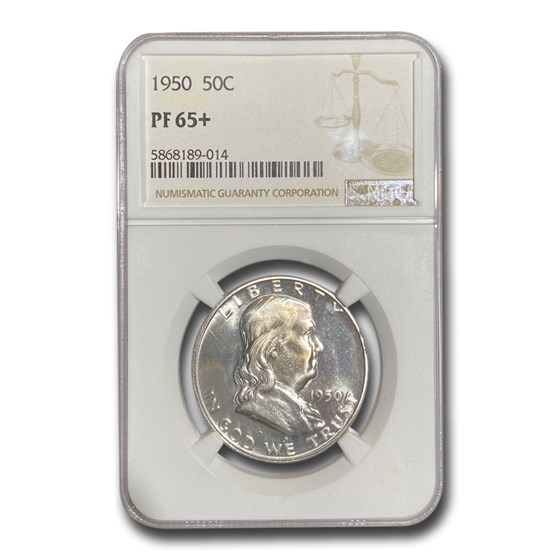 1950 Franklin Half Dollar PF-65+ NGC