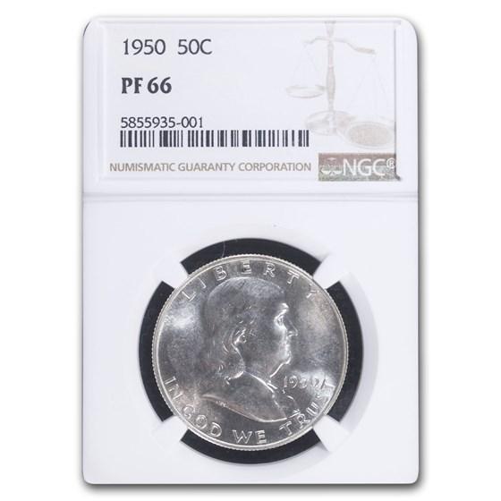 1950 Franklin Half Dollar PF-66 NGC