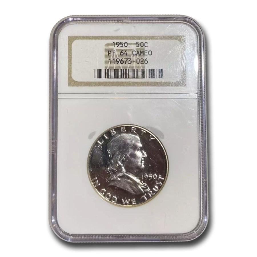 1950 Franklin Half Dollar PR-64 Cameo NGC