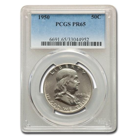 1950 Franklin Half Dollar PR-65 PCGS