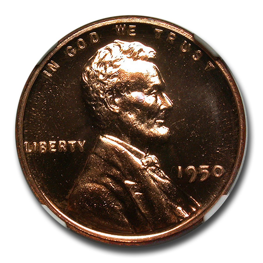 1950 Lincoln Cent PF-66 DCAM NGC (Red)