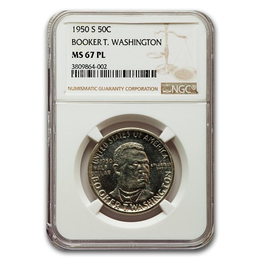 1950-S Booker T. Washington Half Dollar MS-67 NGC (PL)