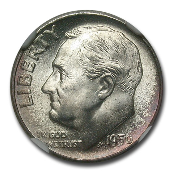 1950-S Roosevelt Dime MS-67 NGC (FT)