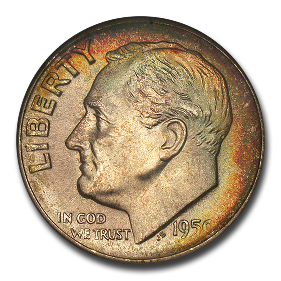 1950-S Roosevelt Dime MS-68 NGC