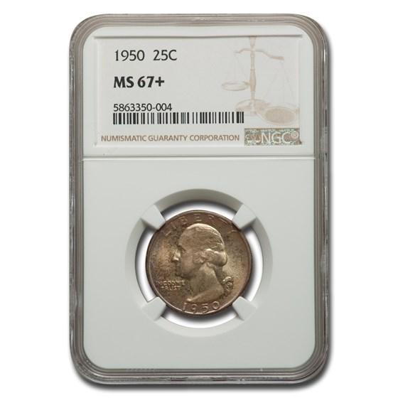 1950 Washington Quarter MS-67+ NGC