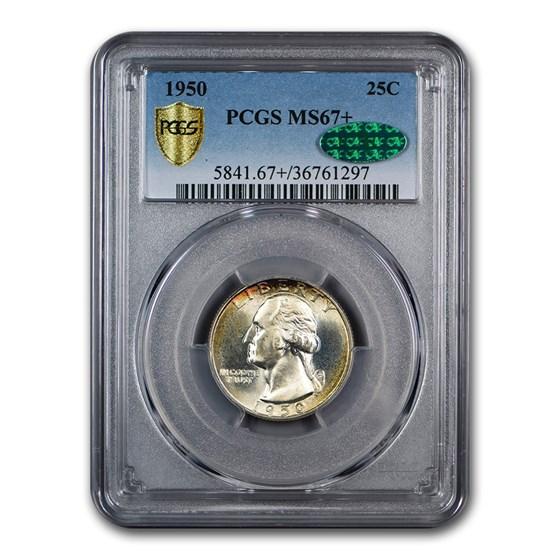 1950 Washington Quarter MS-67+ PCGS CAC
