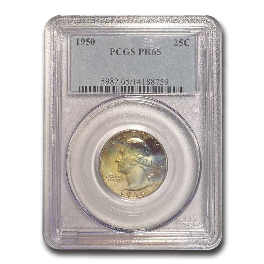 1950 Washington Quarter PR-65 PCGS
