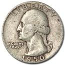 1950 Washington Quarter VG/XF