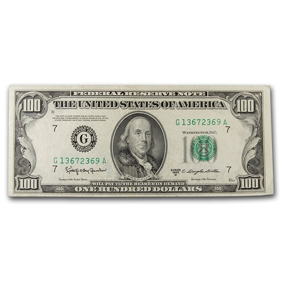 1950s $100 FRN's XF (Districts of Our Choice)