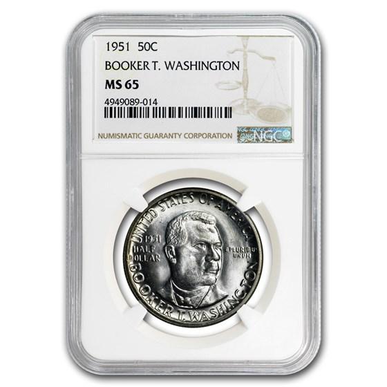 1951 Booker T. Washington Half Dollar MS-65 NGC