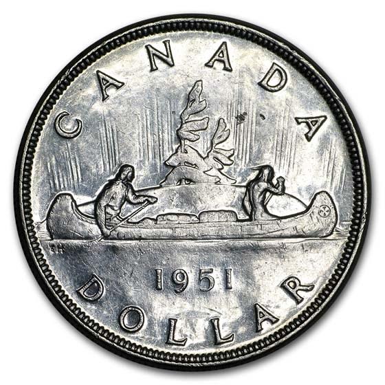 1951 Canada Silver Dollar George VI XF