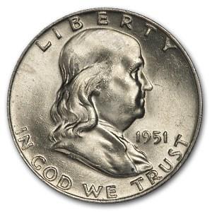 1951-D Franklin Half Dollar MS-63