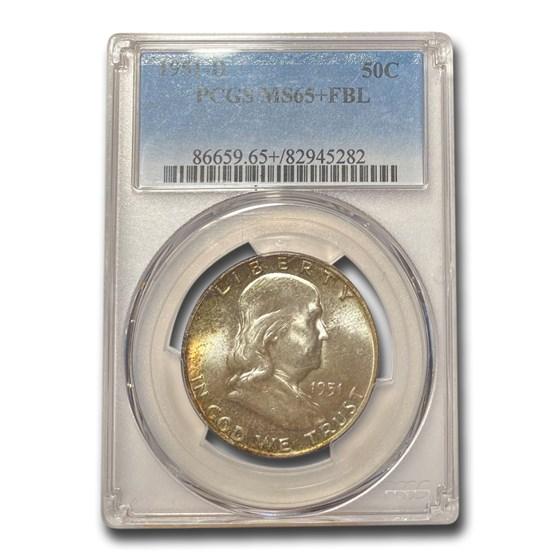 1951-D Franklin Half Dollar MS-65+ PCGS (FBL, Toned)