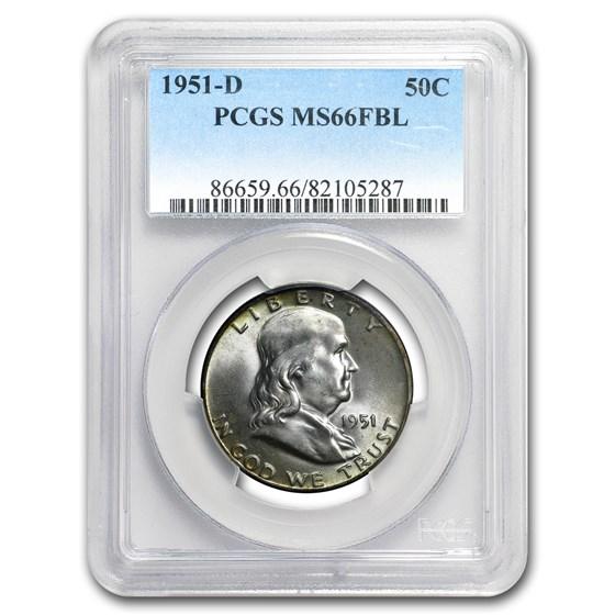 1951-D Franklin Half Dollar MS-66 PCGS (FBL)