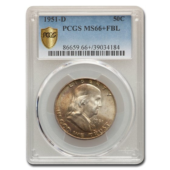 1951-D Franklin Half Dollar MS-66+ PCGS (FBL)