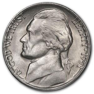 1951-D Jefferson Nickel BU