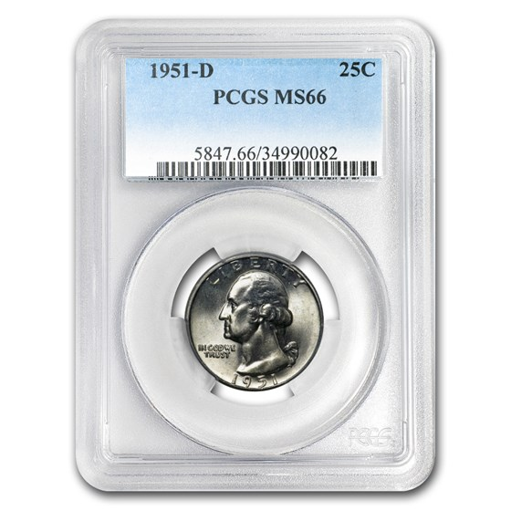 1951-D Washington Quarter MS-66 PCGS