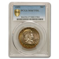1951 Franklin Half Dollar MS-67 PCGS (FBL)