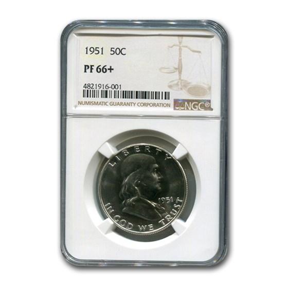1951 Franklin Half Dollar PF-66+ NGC